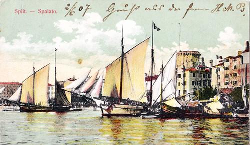 Split harbor in 1907