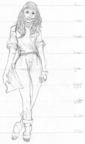 Clothed figure sketch 4 2011/06/06
