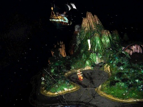 Flying over Neverland on Peter Pan's Flight