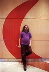Richard Stallman, padre del Software Libre, en una entrevista con el suplemento cultural de Clarín.