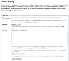 Creating a simple survey on votapedia