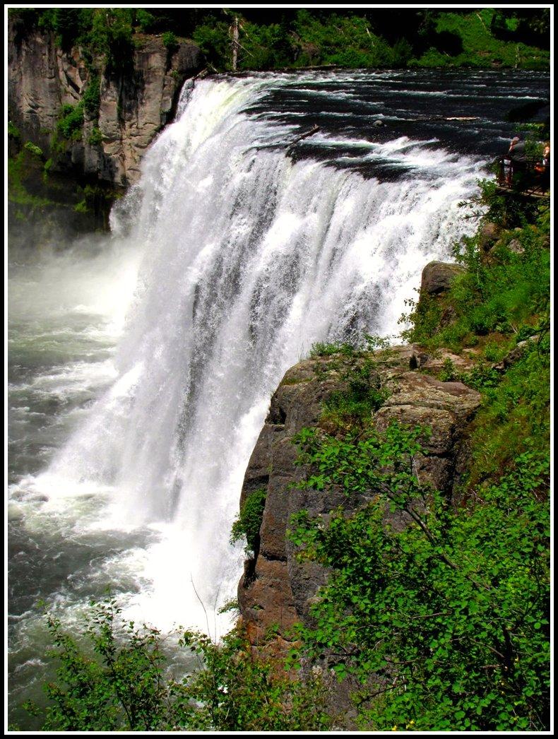 Il falso mito del non inverno 2007 Mesa Falls Idaho  Natures Wild Beauty on the Snake River