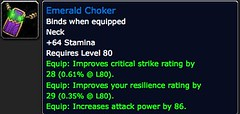 Emerald Choker - Item - World of Warcraft