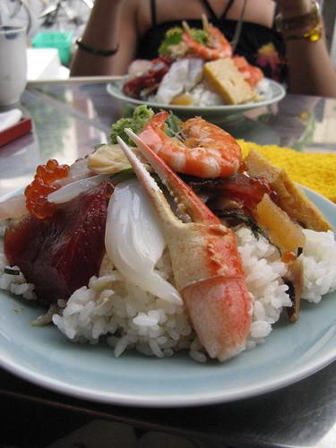 Sashimi breakfast