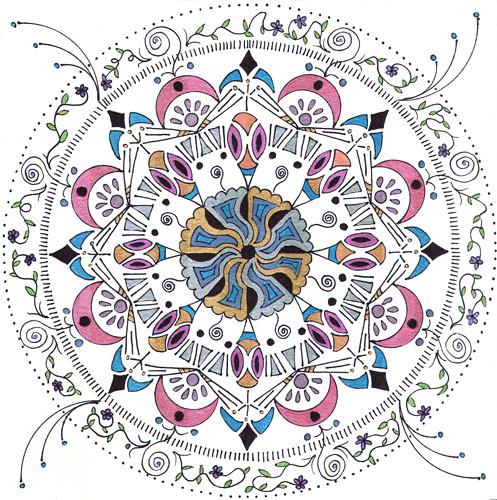 mandala #4, marker & ink on paper (c) 2009, Lynne Medsker