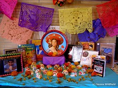 Day of the Dead Altar at the Meekins Library in Williamsburg, MA