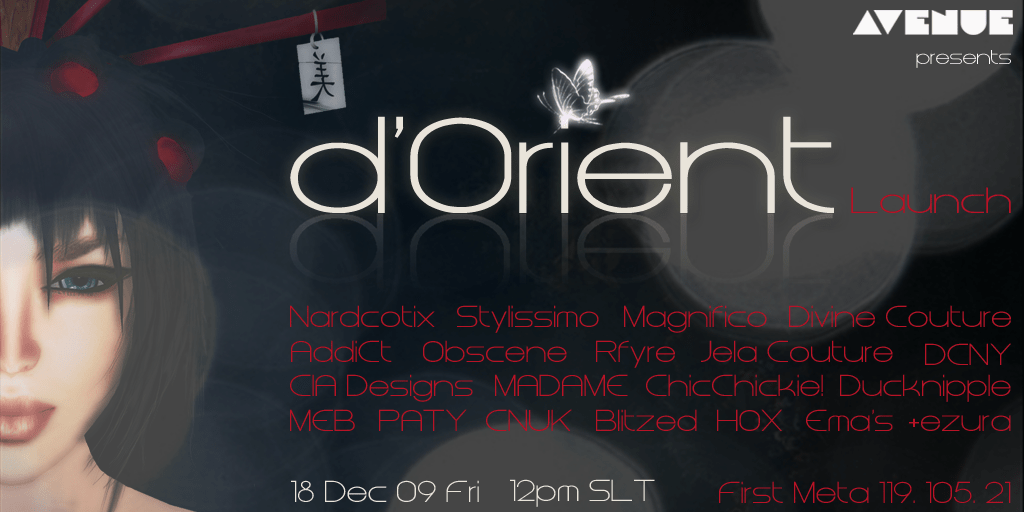 AVENUE Models :: d'Orient Launch