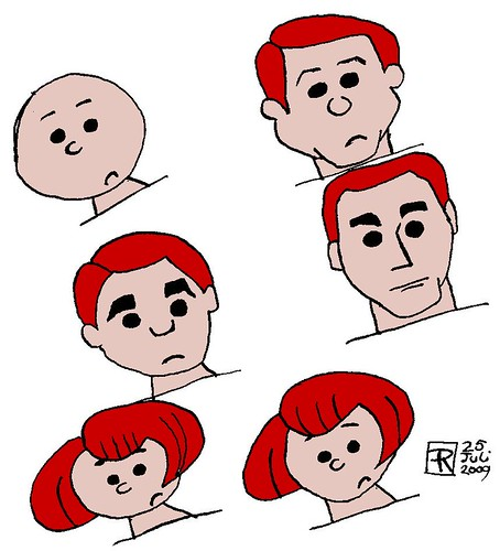 cartoon heads, part 2