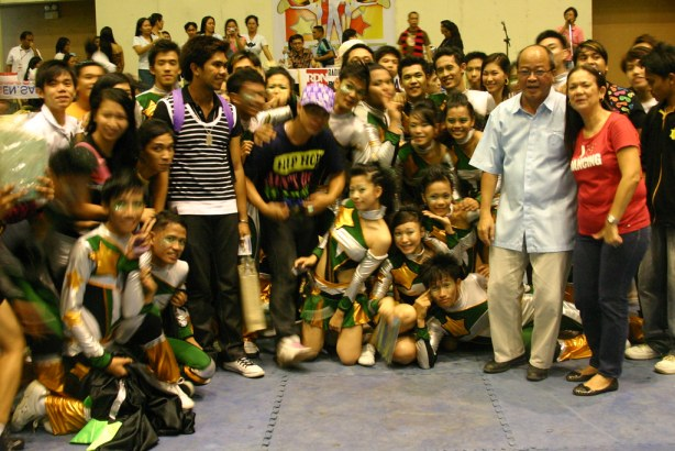 NDDU PEP Squad relishing their victory with Pres. Bro. John Tan, FMS and City Councilor Meg Santos