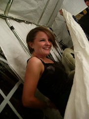 There were no changing rooms - Mary got changed behind a sheet. Rock and roll!