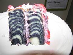 zebra cake slice