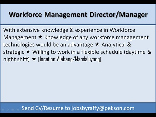 Workforce Management Director / Manager