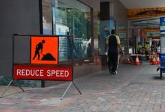 pedestrians reduce speed