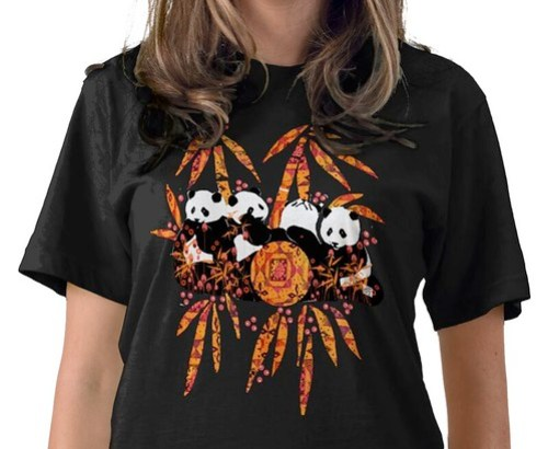 PANDA PARADISE tshirt by Sandra Miller  at my Zazzle store