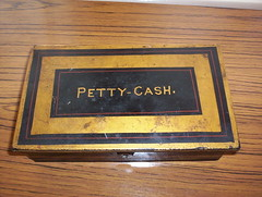 Petty Cash tin from yesteryear