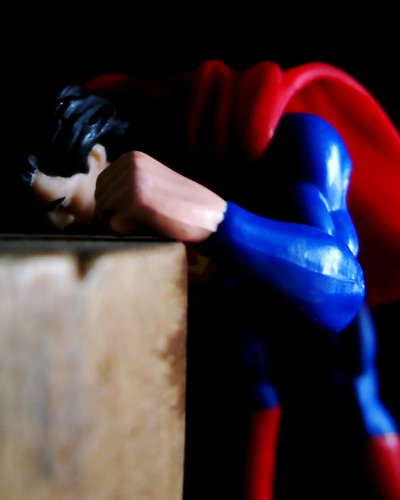 Even Superman gets the blues by Darwin Bell, on Flickr
