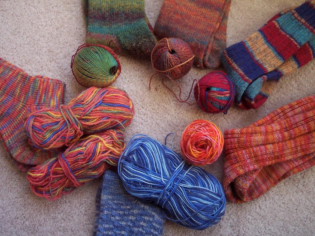 Socken zum Stopfen / sox to darn
