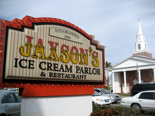 Jaxon's Ice Cream Parlor Sign