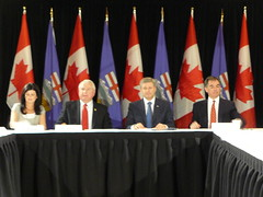 prime minister harper at Alberta Caucus meeting
