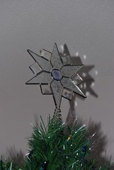 The star at the top of our Christmas tree