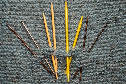 A Sampling of Double Pointed Knitting Needles