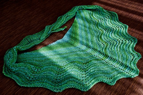 Vancouver Winter Greens shawl