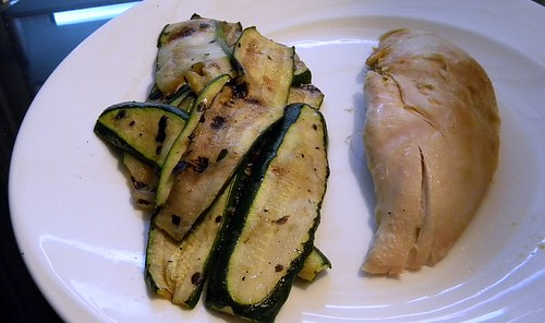 Chicken breast and grilled zucchini