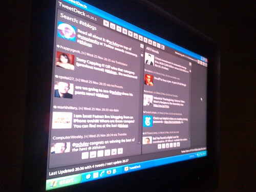 Tweetdeck - Twitter wall