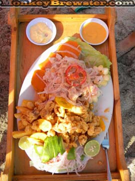 Ceviche at the Beach