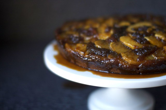 apple ginger upside-down cake