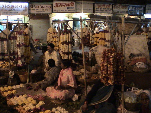 Pune Laxmi Road at Night (India 2004) 2