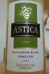 """Trapiche """"Astica"""" Sauvignon Blanc Semillon 2008 (Argentina)"""