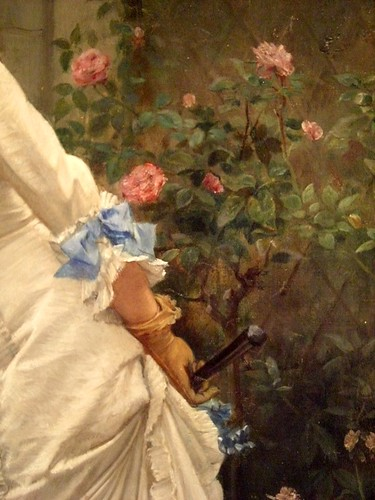 Auguste Toulmouche: A Girl and Roses (1879)