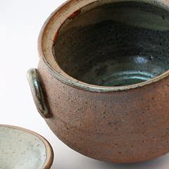 M. Leach. Lidded pot. Inside view