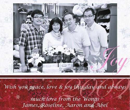 Christmas card 2009.jpg The Wongs