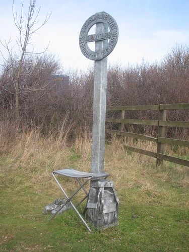 Teesdale Way Marker, Coatham Marsh