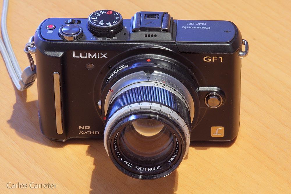 Panasonic Lumix GF1 + Canon 50/1,8 (Rosca)