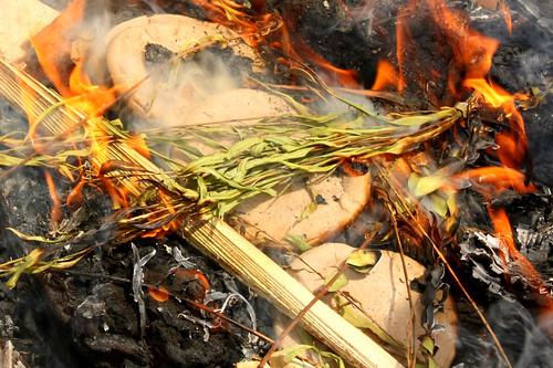 Bi'ur Chametz (Burning the last of the leavened food)