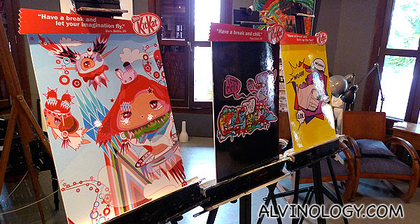 The three artworks commissioned by Kit Kat