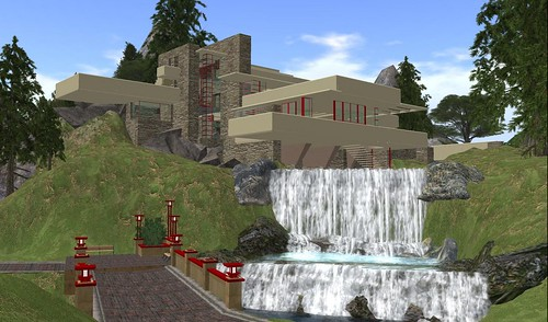 Falling Water House at the Frank Lloyd Wright Museum in Usonia. Photograph by PJ Trenton