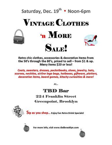Vintage Sale at t.b.d.