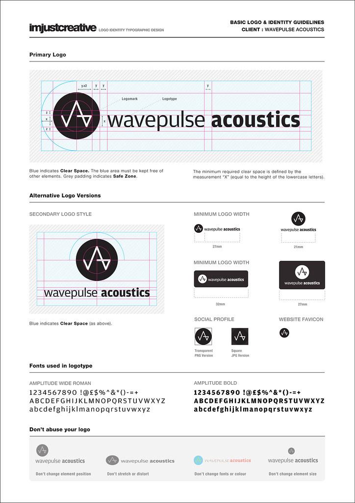Identity Guidelines for Wavepulse Acoustics Logo  The Logo Smith