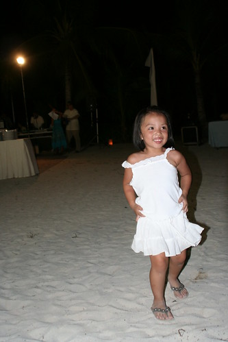 Flower Girl in August - Beach Reception