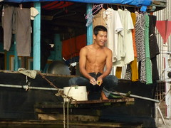 Washing in Mekong River