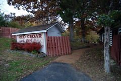 The Red Cedar Inn alongside Route 66 in Pacific, Missouri is now closed
