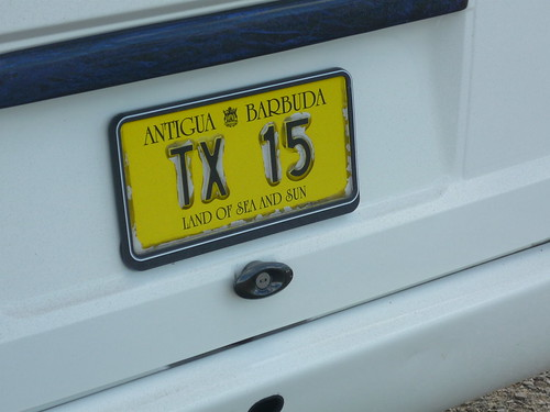 Antigua license plate