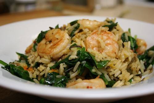 Spicy Citrus Shrimp and Spinach
