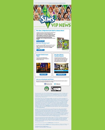 The Sims 3 VIP News for January 2010