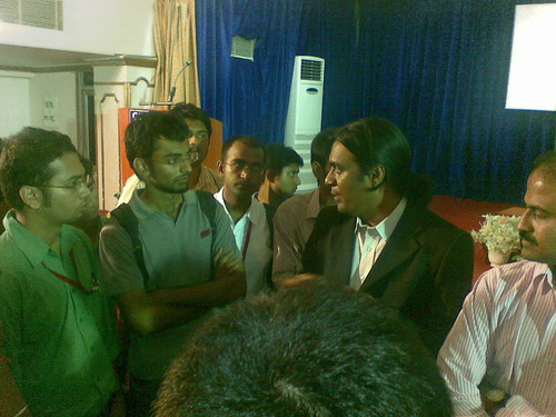 Myself Interacting with Mr. Kiruba Shankar