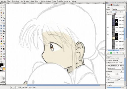 Detalles del rostro de Yuuki